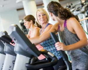 Guests using the gym facilities at Ragdale Hall