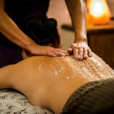 Relaxing back massage at Ragdale Hall