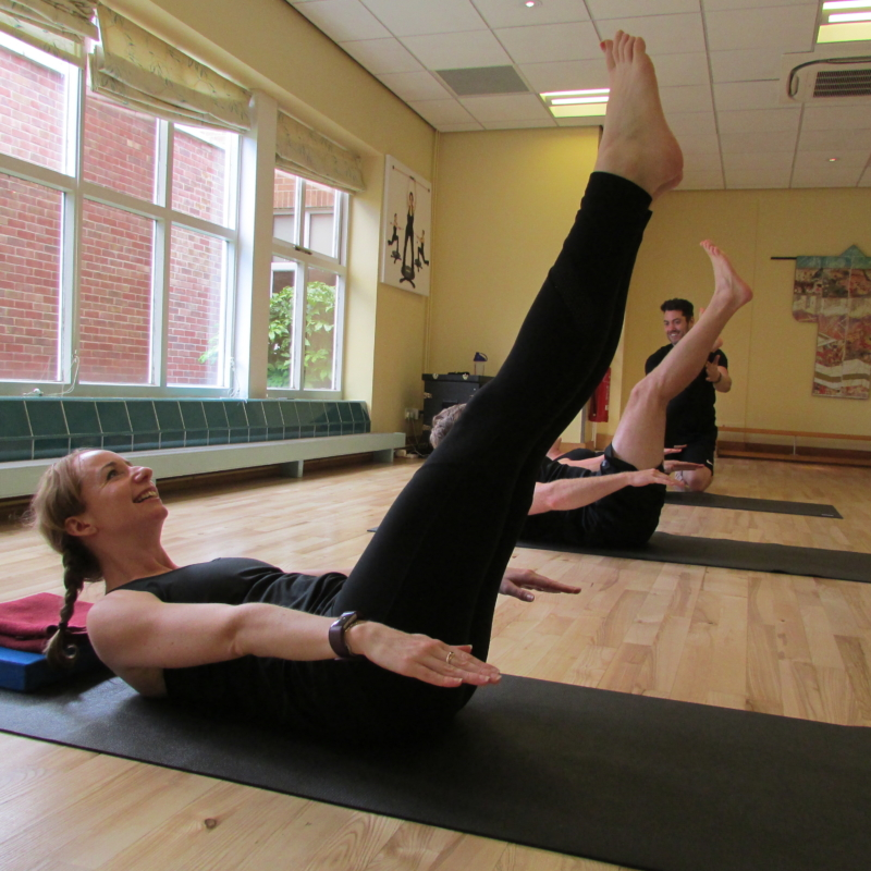 Guests exercising during a fitness class at Ragdale Hall