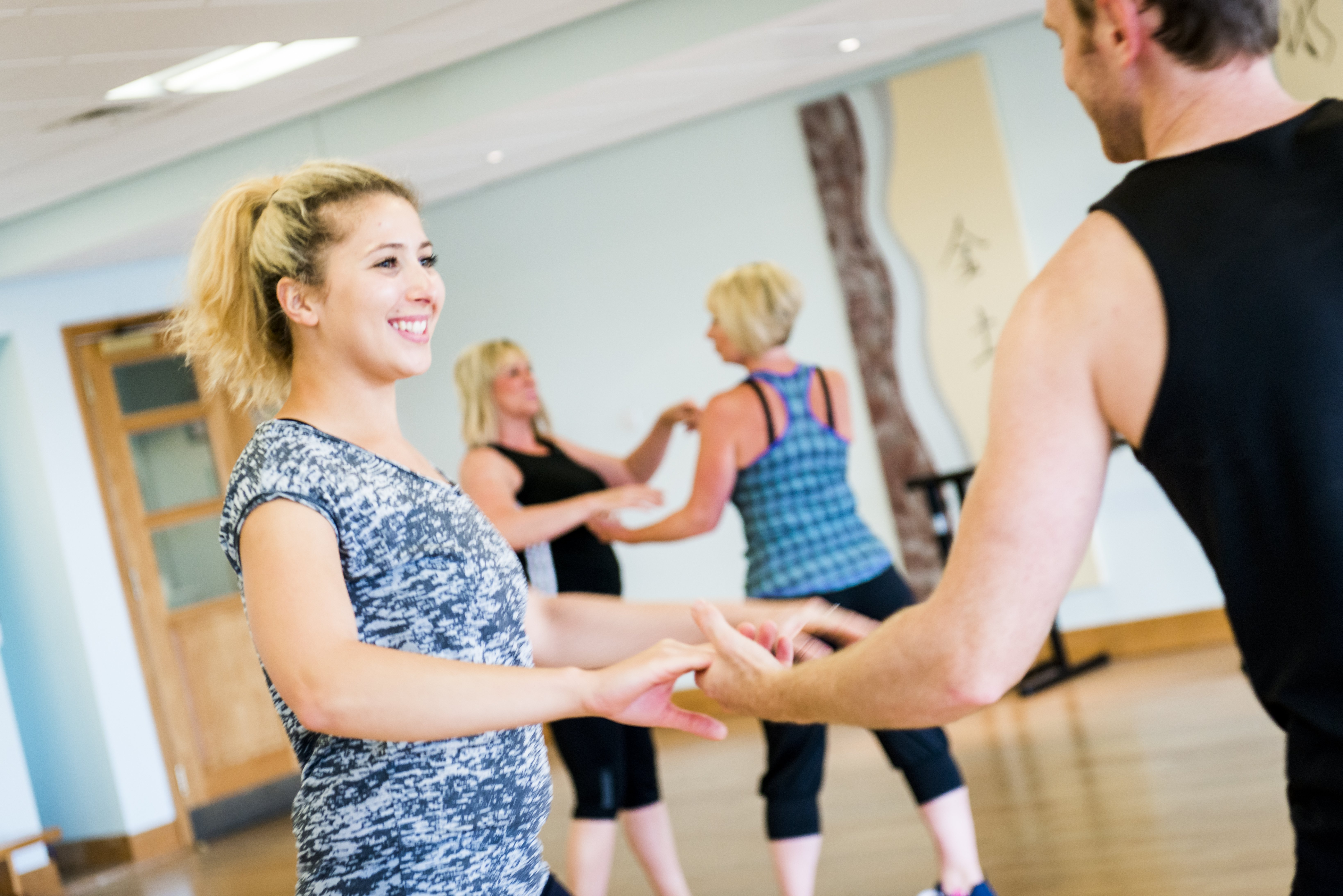 Guests enjoying a dance fitness class at Ragdale Hall