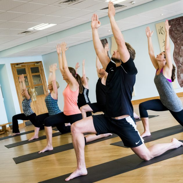 Guests during a pilates class at Ragdale Hall
