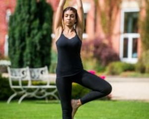 Guest taking part in yoga at Ragdale Hall Spa