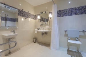 Adapted Bedroom Bathroom at Ragdale hall