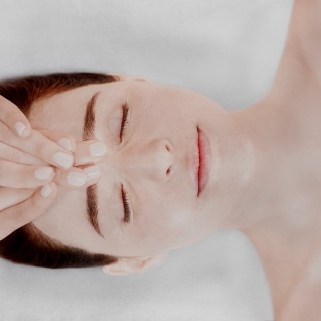 Lady having Decleor facial massage