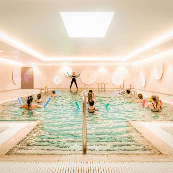 Exercise Pool with ladies doing a fitness class