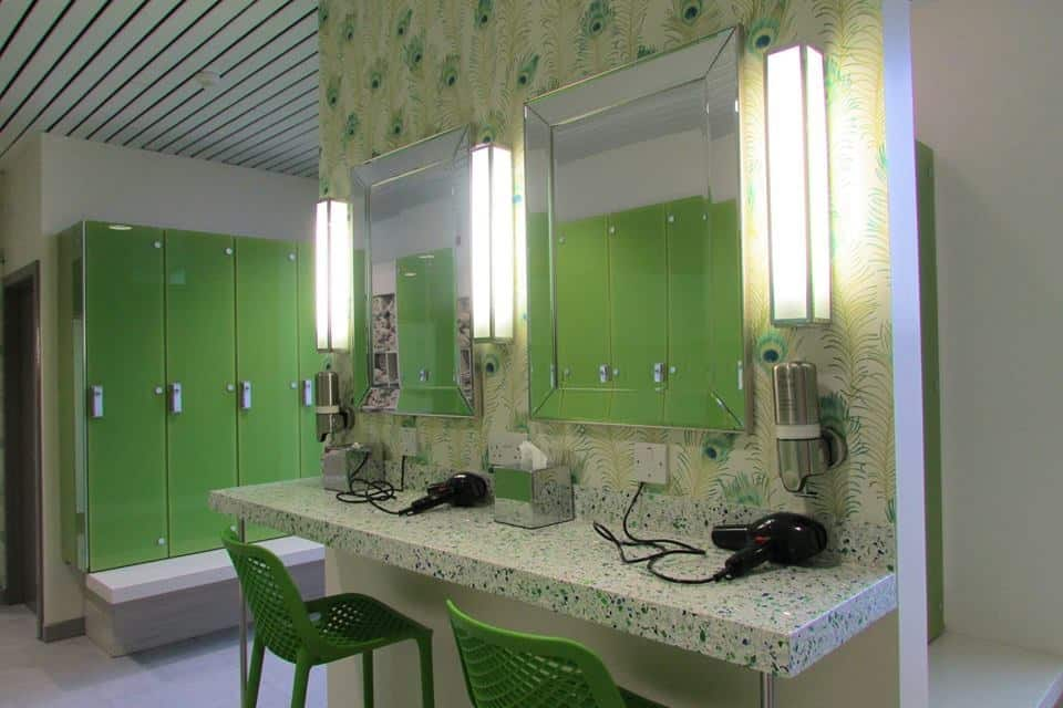 Ragdale Hall New green changing room