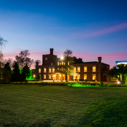 Night shot of Ragdale hall