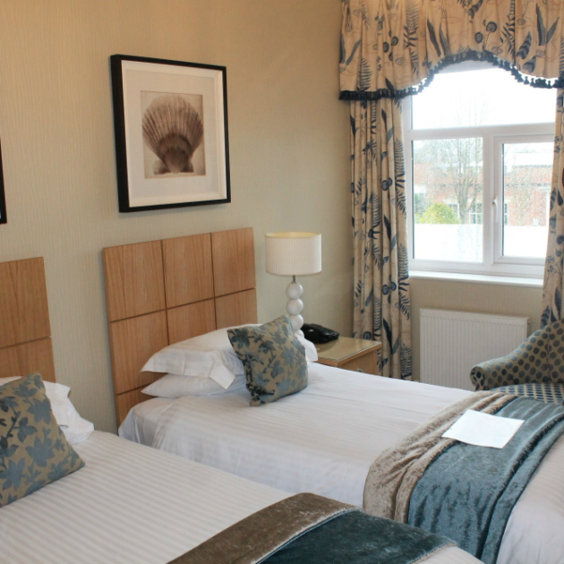 Standard Bedroom at overnight spa hotel Ragdale Hall