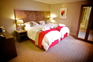 Wolds Suite Bedroom at Ragdale Hall