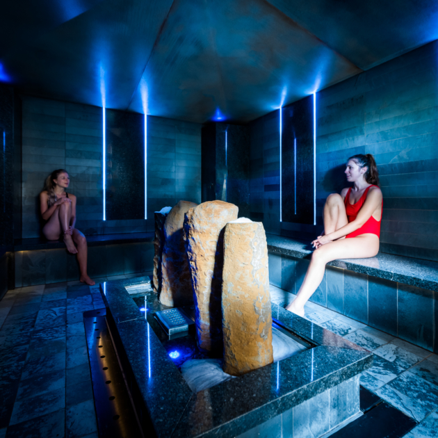 Guests using spa facilities