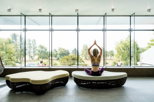 Yoga in Ragdale Hall Rooftop Lounge