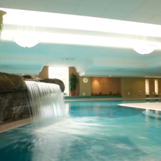 Waterfall in Main Pool at Ragdale Hall