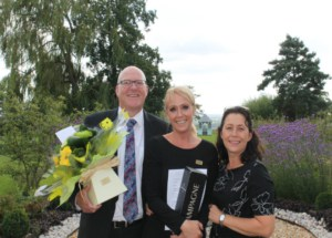 Guest Liaison Manager Jo Hallam receives long service award
