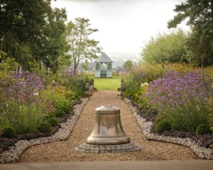 Front garden at Ragdale Hall Spa in the spring time