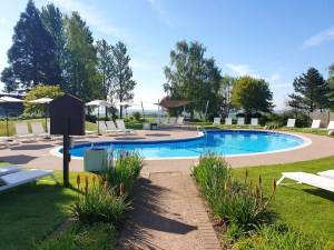 Outdoor Pool in the summer