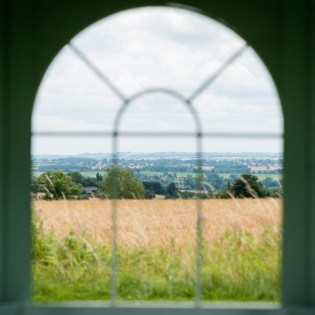 Countryside view from the Summer House at Ragdale Hall