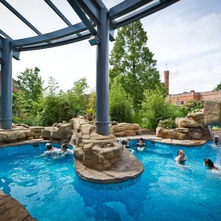 Outdoor Waterfall Pool in the Thermal Spa