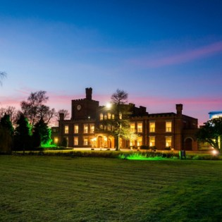 Ragdale Hall Spa in the evening time