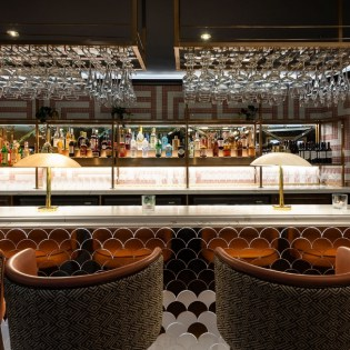 Stunning art-deco inspired bar and seating in the Twilight Bar